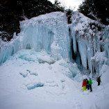 善五郎の滝 冬の氷瀑