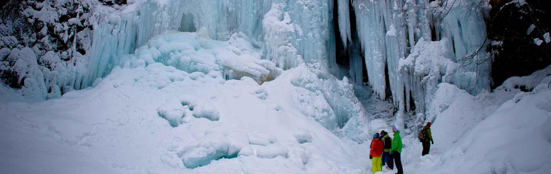 氷瀑 凍った滝